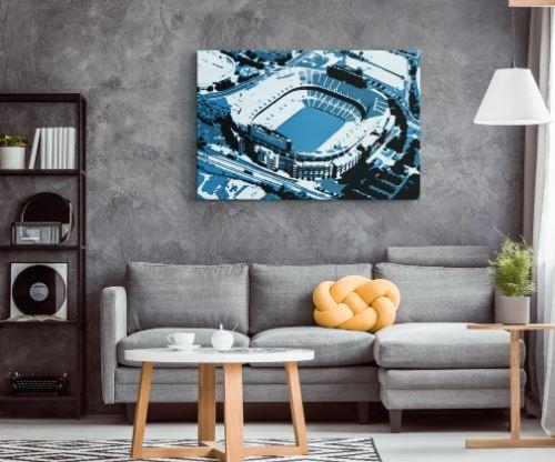 Bank of America Stadium - Carolina Panthers Aerial Canvas Print