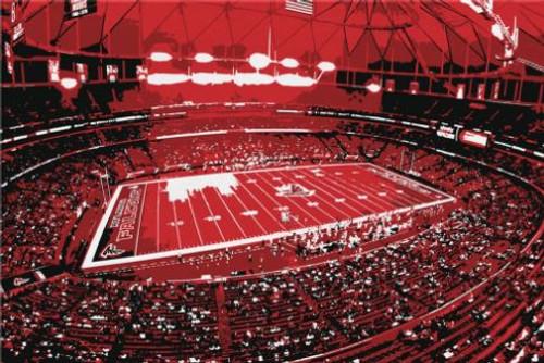 Georgia Dome - Atlanta Falcons Canvas Print