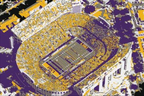 Tiger Stadium - LSU Tigers Aerial Canvas Print