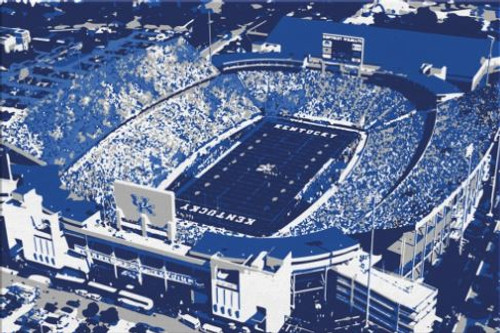 Kroger Field - Kentucky Wildcats Aerial Canvas Print
