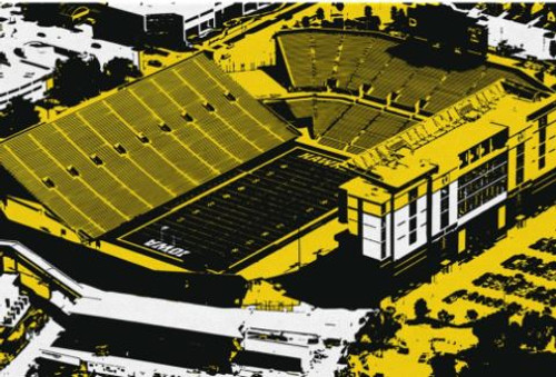 Kinnick Stadium - Iowa Hawkeyes Aerial Canvas Print