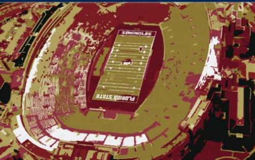 Doak Campbell Stadium - Florida State Seminoles Aerial Canvas Print