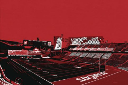 Nippert Stadium - Cincinnati Bearcats Aerial Canvas Print