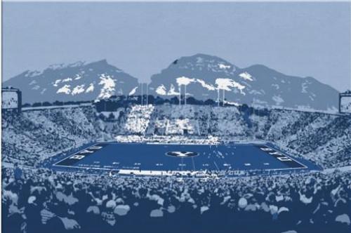 LaVell Edwards Stadium - BYU Cougars Canvas Print