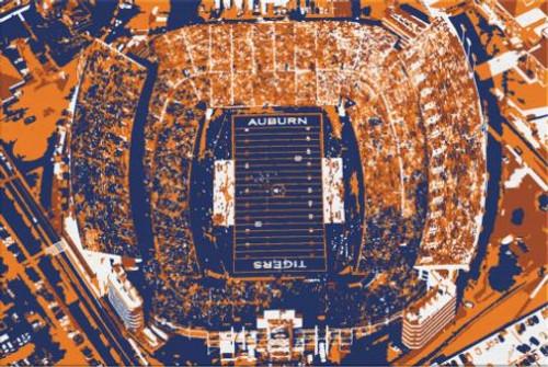 Jordan Hare Stadium - Auburn Tigers Aerial Canvas Print