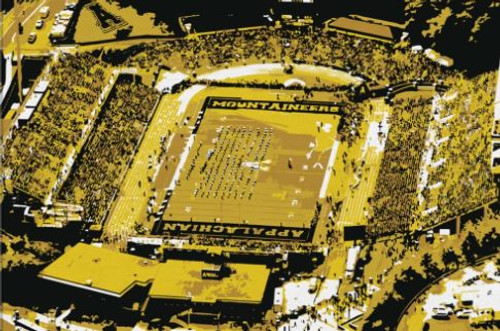 Kidd Brewer Stadium - Appalachain State Mountaineers Aerial Canvas Print