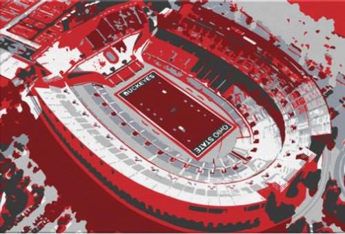 Ohio Stadium - Ohio State Buckeyes Aerial Canvas Print