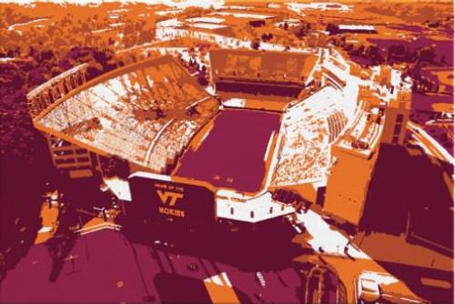 Lane Stadium - Virginia Tech Hokies Aerial Canvas Print