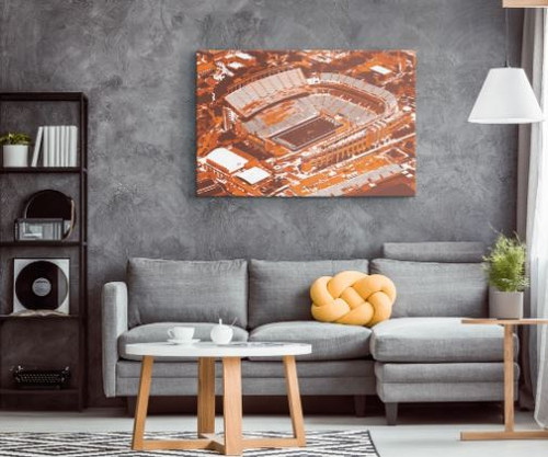 Royal Memorial Stadium - Texas Longhorns Aerial Canvas Print