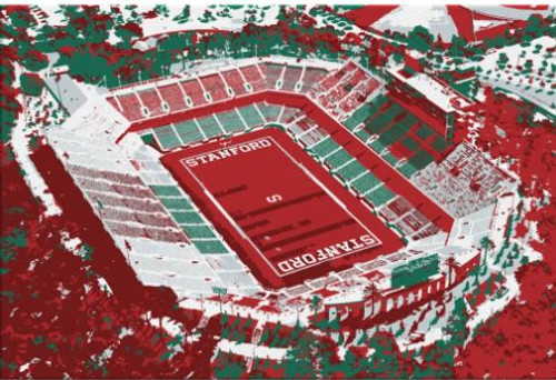 Stanford Stadium - Stanford Cardinal Aerial Canvas Print