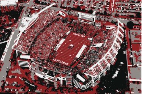 Williams Brice Stadium - South Carolina Gamecocks Aerial Canvas Print