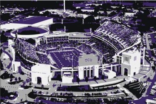 Amon Carter Stadium - TCU Horned Frogs Aerial Canvas Print