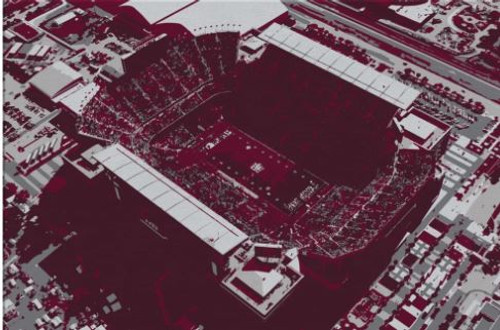 Kyle Field - Texas A&M Aggies Aerial Canvas Print