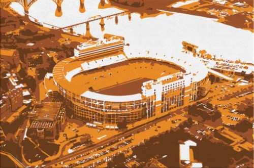 Neyland Stadium - Tennessee Volunteers Aerial Canvas Print