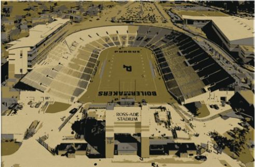 Ross Ade Stadium - Purdue Boilermakers Aerial Canvas Print