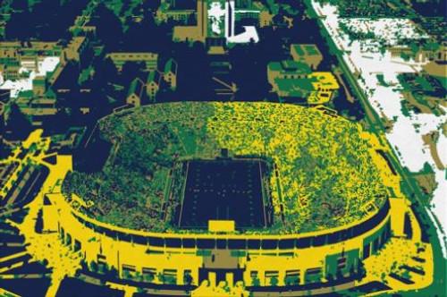 Notre Dame Stadium - Notre Dame Fighting Irish Aerial Canvas Print