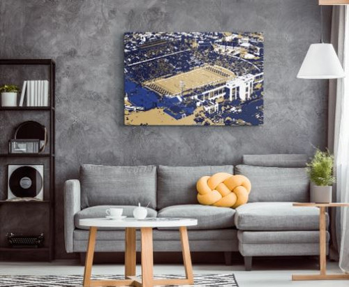 Memorial Stadium - Navy Midshipmen Aerial Canvas Print