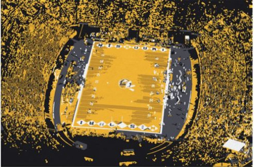 Faurot Field - Missouri Tigers Aerial Canvas Print