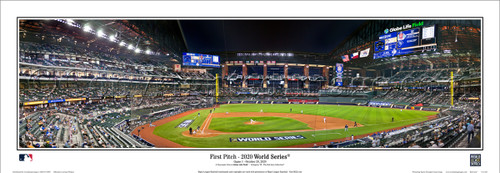 "2020 World Series ""First Pitch"" Globe Life Field Panoramic Poster"