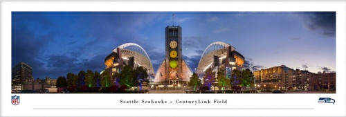 "Seattle Seahawks at ""Exterior"" CenturyLink Field Panoramic Poster"