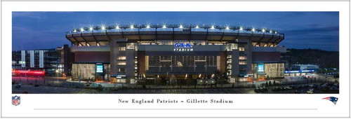 "New England Patriots at Gillette Stadium ""Exterior"" Panoramic Poster"