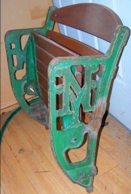 """Polo Grounds Double """"NY"""" Figural Seat - New York Giants"""