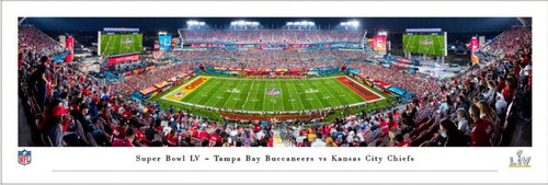 Super Bowl LV Kickoff - Kansas City Chiefs vs Tampa Bay Buccaneers Panoramic Poster