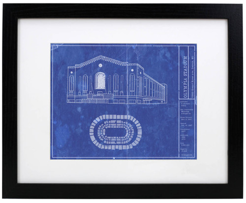 Olympia Stadium - Detroit Red Wings Blueprint Poster