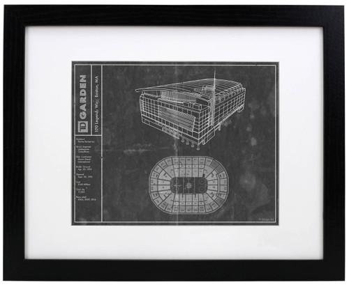 TD Garden - Boston Bruins Blueprint Poster