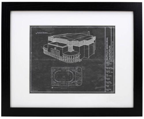Buffalo Memorial Auditorium - Buffalo Sabres Blueprint Poster