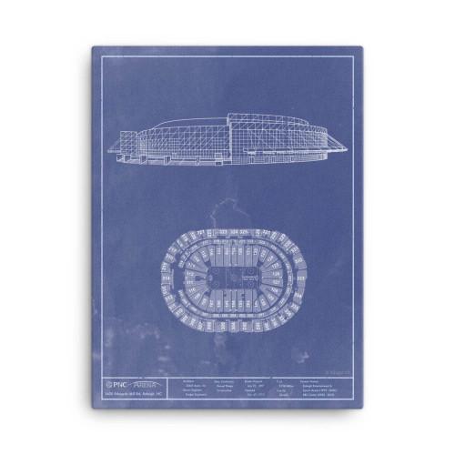 PNC Arena - Carolina Hurricanes Blueprint Poster