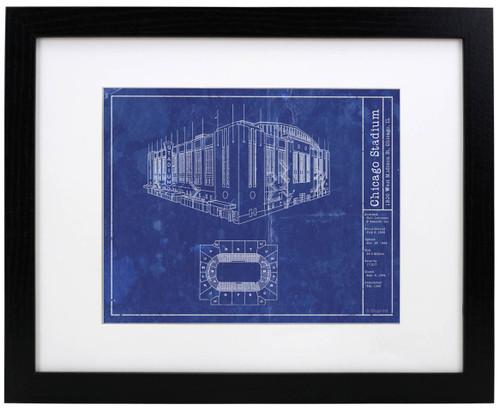 Chicago Stadium - Chicago Blackhawks Blueprint Poster