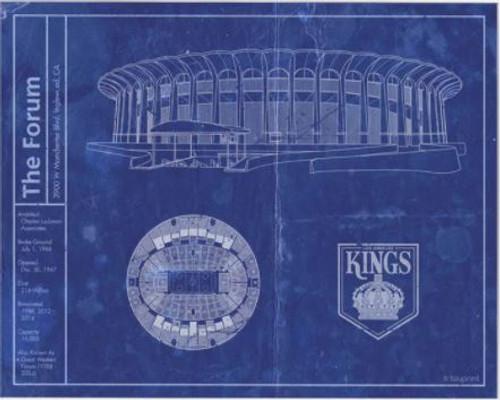 Los Angeles Forum - Los Angeles Kings Blueprint Poster