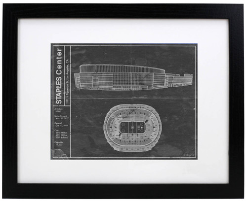 Staples Center - Los Angeles Kings Blueprint Poster