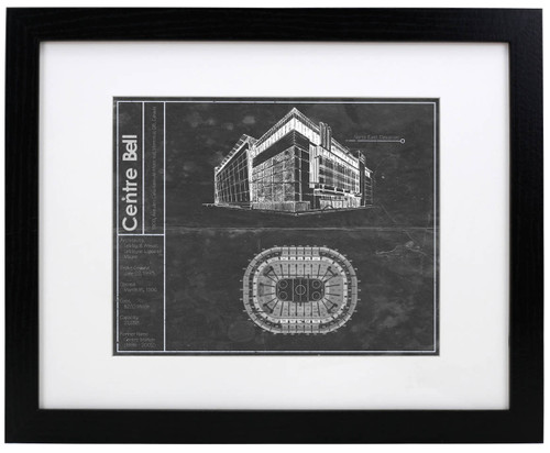 Bell Centre - Montreal Canadians Blueprint Poster