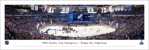 2021 NHL Stanley Cup Champions - Tampa Bay Lightning Panoramic Poster