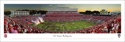 NC State Wolfpack at Carter-Finley Stadium Panoramic Poster