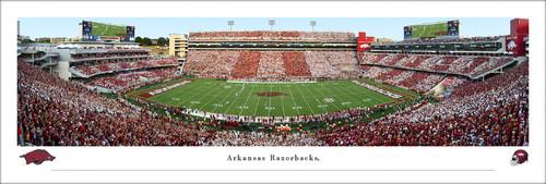 Arkansas Razorbacks at Donald W. Razorback Stadium Panoramic Poster