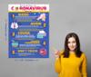 Coronavirus Covid-19 Prevention tips, quick informative, memorable educational tool