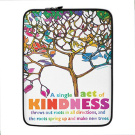 Kindness - Shades of Inspiration laptop or tablet case or cover