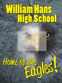 Eagles School 3D Mascot graphic