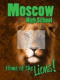 Lions 3D Mascot Graphic