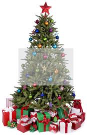 christmas tree wall graphic