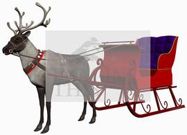 Reindeer & Sleigh wall graphic