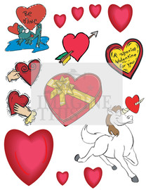 Valentines Day Graphic wall