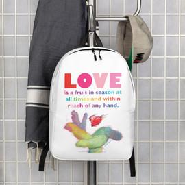 Love - Shades of Inspiration - Minimalist Backpack