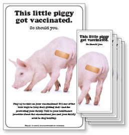 This Little Piggy Got Vaccinated Poster and/or Fact Cards