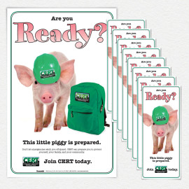 CERT Piggy Recruitment Poster and/or Fact Cards