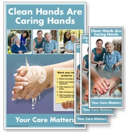Clean Hands Are Caring Hands Poster and/or Fact Cards