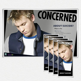 Concerned About Suicide? Male Poster and/or Fact Cards